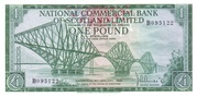 1 Pound (National Commercial Bank of Scotland) – avers