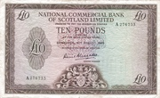10 Pounds (National Commercial Bank of Scotland) – avers