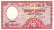 20 Pounds (National Commercial Bank of Scotland) – avers