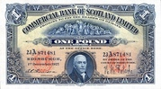 1 Pound (Commercial Bank of Scotland) – avers