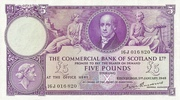 5 Pounds (Commercial Bank of Scotland) – avers