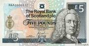 5 Pounds (250th Anniversary of St. Andrews Royal & Ancient Golf Club) – avers