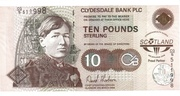 10 Pounds Clydesdale Bank – avers