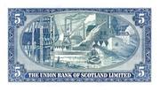 5 Pounds (Union Bank of Scotland) – revers