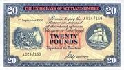 20 Pounds (Union Bank of Scotland) – avers