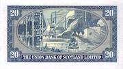 20 Pounds (Union Bank of Scotland) – revers