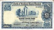 1 Pound (North of Scotland Bank) – avers