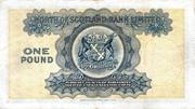 1 Pound (North of Scotland Bank) – revers