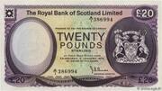 20 Pounds (Royal Bank of Scotland) – avers