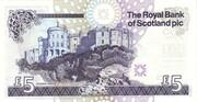 5 Pounds (Royal Bank of Scotland) – revers