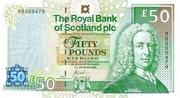 50 Pounds Royal Bank of Scotland – avers