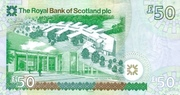 50 Pounds Royal Bank of Scotland – revers