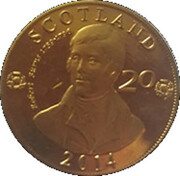 20 Scots Pence – avers