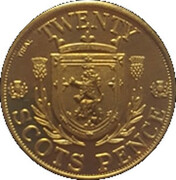20 Scots Pence – revers