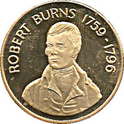 Robert Burns (Alloway) 22ct Gold plated Medallion – avers