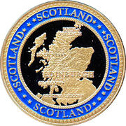 Eilean Donan Castle  - Souvenir Coin – revers