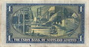 1 Pound - The Union Bank of Scotland Limited – revers