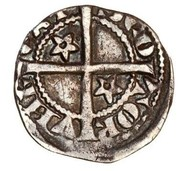 ½  penny Robert I – revers
