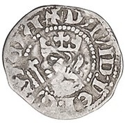 ½ penny David II (1st Coinage, 1st Issue) – avers