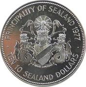10 Dollars - Princess Joan I (Jubilee) 1977 – avers