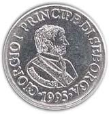 5 centesimi Giorgio Ier – avers
