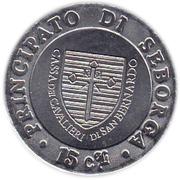 15 centesimi Giorgio Ier – revers