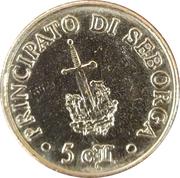 5 centesimi Giorgio Ier – revers