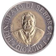 2 Luigini - Giorgio I (Indépendance) – avers