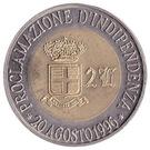 2 Luigini - Giorgio I (Indépendance) – revers