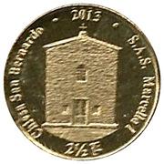 2½ luigini - Eglise Saint bernard – revers