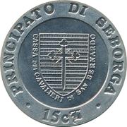 15 Centesimi - Giorgio I – revers