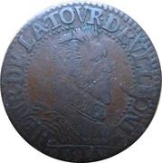 Liard (type 6A, col fraisé) - Henri de La Tour d'Auvergne ( Principauté de Sedan ) – avers