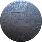 Liard (type 6A, col fraisé) - Henri de La Tour d'Auvergne ( Principauté de Sedan ) – revers