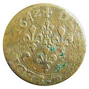 Double-Tournois de Sedan Frédéric-Maurice de la Tour d'Auvergne (Type 14) – revers