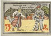 75 Pfennig – revers