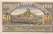 50 Pfennig (Segeberg; Spar- und Leihkasse der Stadt) – avers