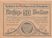 50 Heller (Seitenstetten) – avers