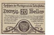 20 Heller (Seitenstetten) – avers