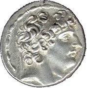 Tétradrachme d'Antiochos VIII Gryphos – avers