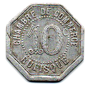 10 centimes Chambre de commerce Rufisque – revers