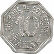 10 centimes Chambre de commerce Dakar – revers