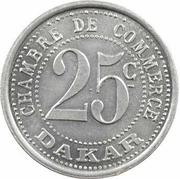 25 centimes Chambre de commerce Dakar – revers