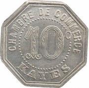 10 centimes Chambre de commerce Kayes – revers