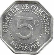 5 centimes Chambre de commerce Rufisque – revers