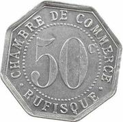50 centimes Chambre de commerce Rufisque – revers