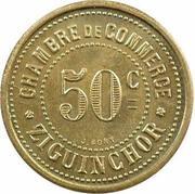 50 centimes Chambre de commerce Ziguinchor – revers