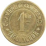 1 franc Chambre de commerce Ziguinchor – revers