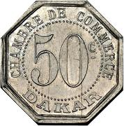 50 centimes Chambre de commerce Dakar – revers