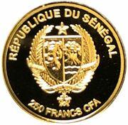 250 francs CFA (Notre-Dame de Częstochowa) – avers