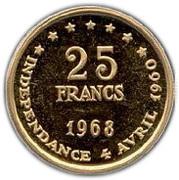 25 francs (8ème anniversaire de l'indépendance) – revers